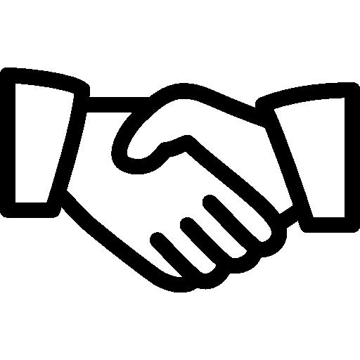 Obraz przedstawiający dwie dłonie w uścisku